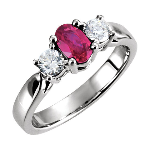 Ring > Ruby & Diamond