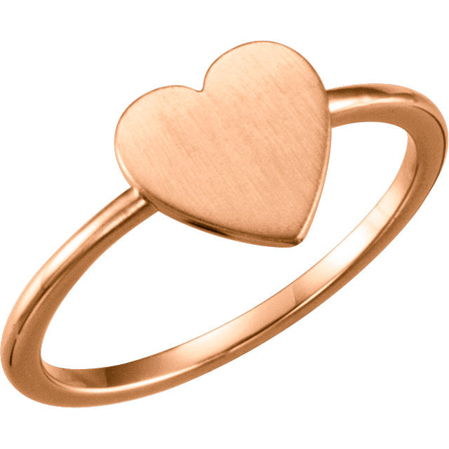 Ring > Engravable > Heart