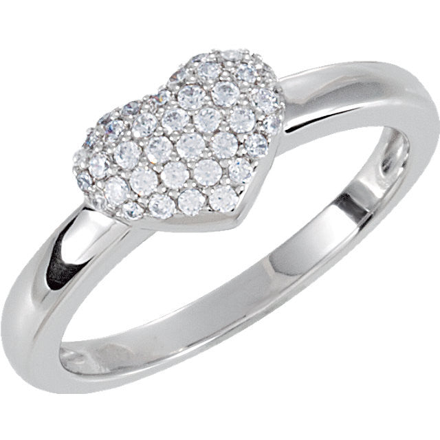 Ring > Heart > Pave > Zirconia > Cubic