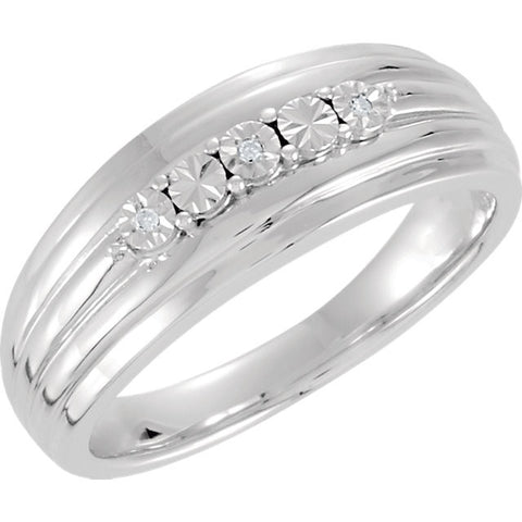 Band > Men's > Illusion > Diamond > .015 CTW