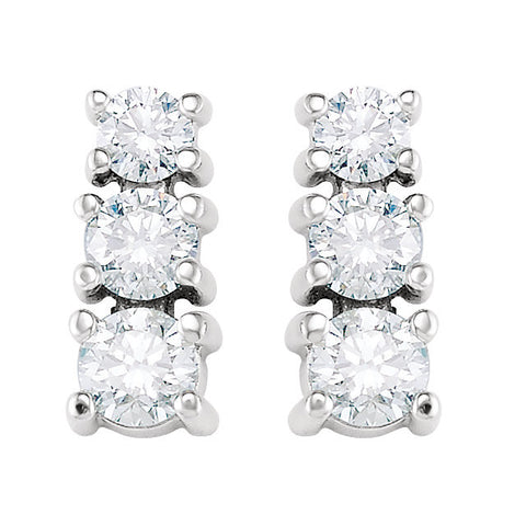 Earrings > 3-Stone > Diamond > 9/10 CTW