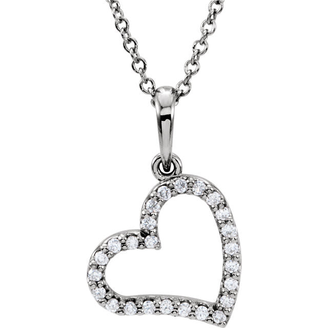 "Necklace > 16"" > Diamond > 1/8 CTW"