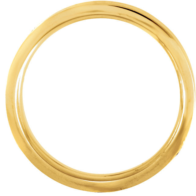 .5 > Band > Fit > Comfort > 6mm > White > Yellow & 14kt > 14kt