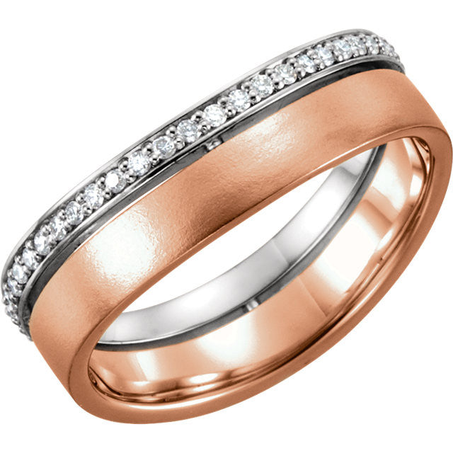 Band > Diamond > 1/3 CTW > 6.5mm > Two-Tone > 14kt