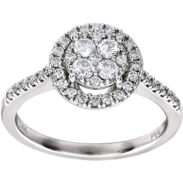 Ring > Engagement > Halo-Styled > Diamond > 5/8 CTW