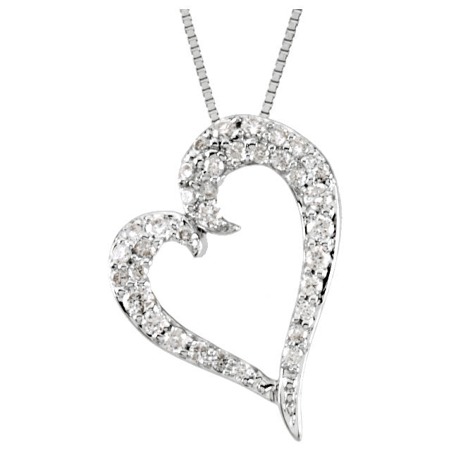 Necklace > Heart > Diamond > 1/4 CTW