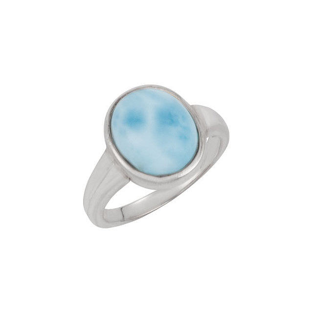 Ring > Larimar > Genuine