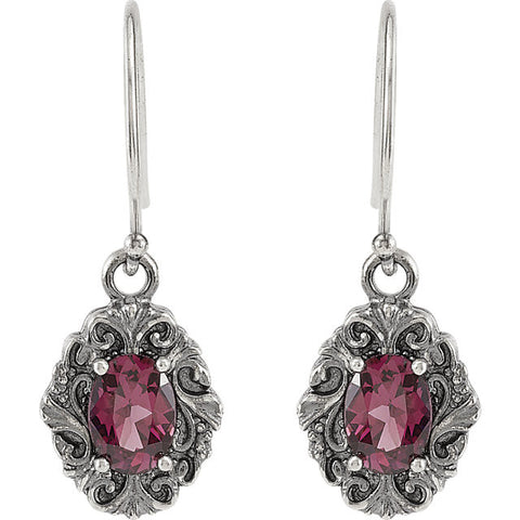 > Earrings > Garnet > Rhodolite > Style > Victorian