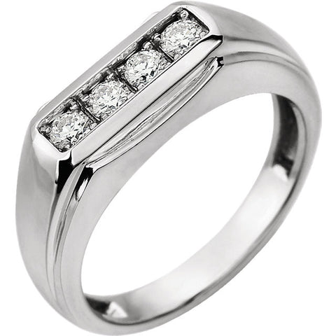 Ring > Men's > Diamond > 3/8 CTW > Two-Tone > 14kt.*Multiple Diamond Cuts and Weights available*