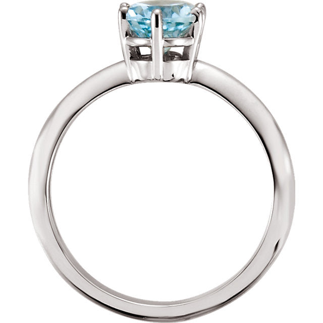 Ring > Aquamarine > Genuine