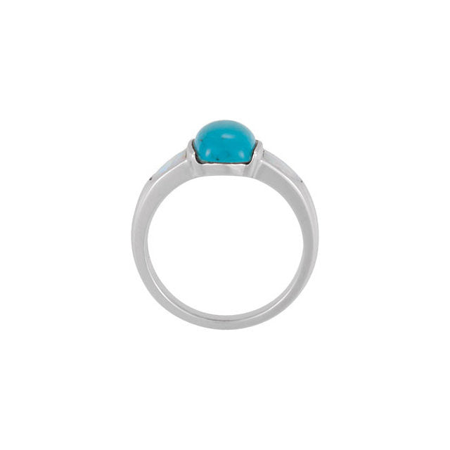 Ring > Opal > and > Turquoise > Chinese > Genuine