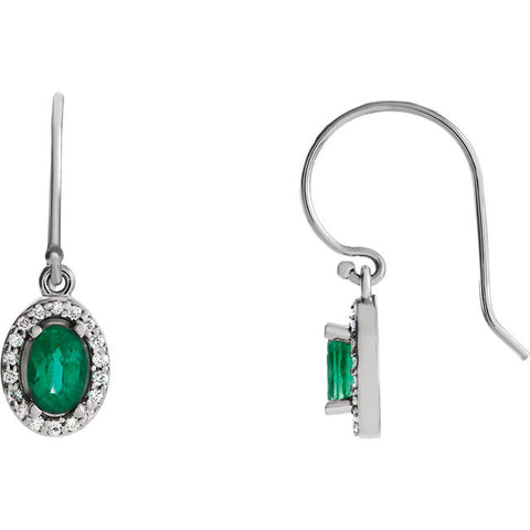 Earrings > Diamond > CTW > 1/Emerald & 1
