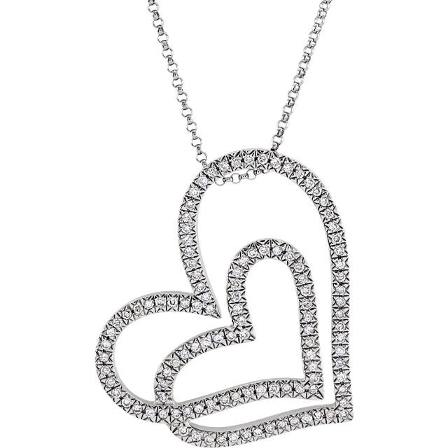 Necklace > Diamond > tw > CT > 1/2