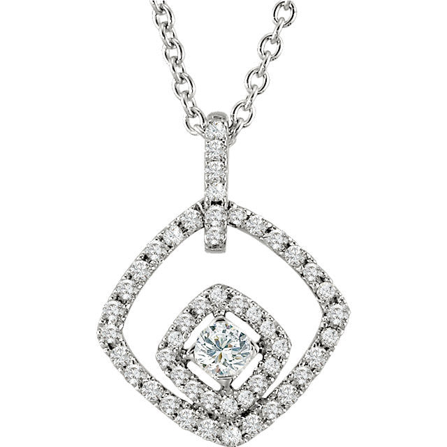 "Necklace > 18"" > Diamond > 1/3 CTW"