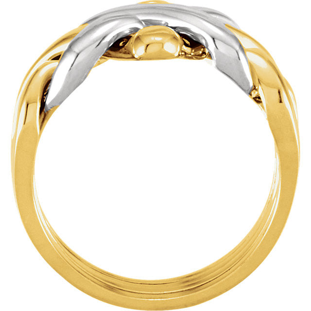Ring > Puzzle > 4-Piece > Ladies > Two-Tone > 14kt