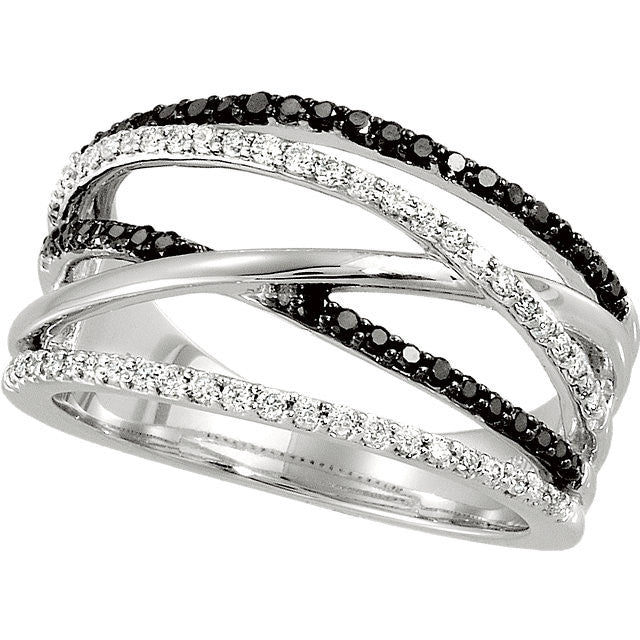 Ring > Diamond > Black & White > 1/2 CTW