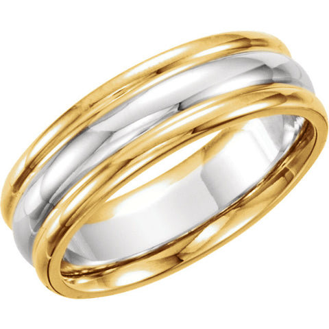Band > Comfort-Fit > 6mm > Two-Tone > 14kt
