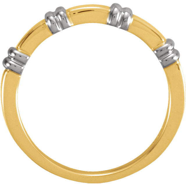 Band > Duo > Gents > 5.5mm > Two-Tone > 14kt