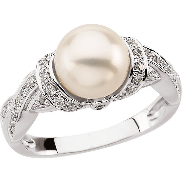 Ring > Diamond > CTW > 1/Pearl & 1 > Freshwater.*Multiple Diamond Cuts and Weights available*