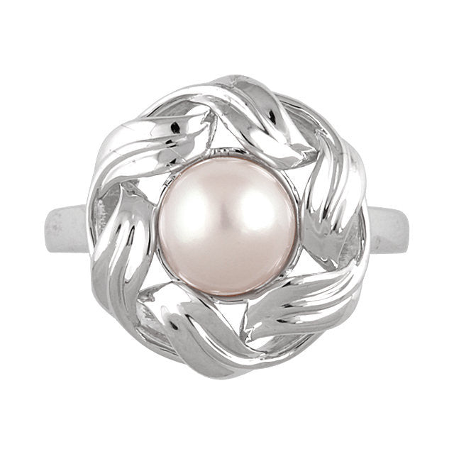 Ring > Fashion > Pearl > Cultured > Freshwater > 8mm