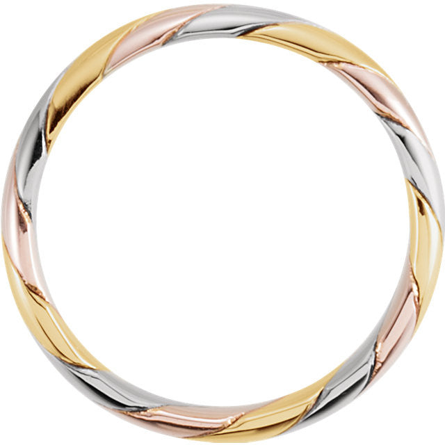 Band > Hand-Woven > 4mm > Tri-Color > 14kt