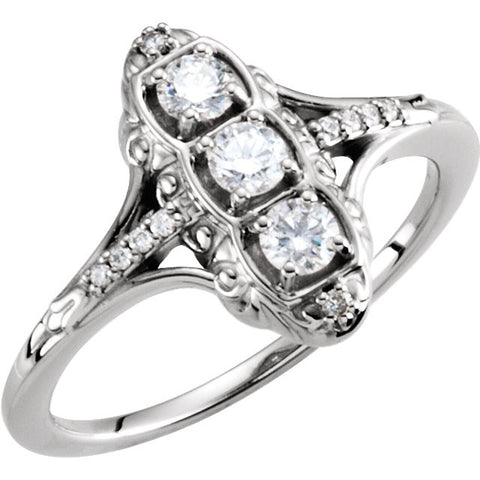 Ring > 3-Stone > Diamond > 1/3 CTW.*Multiple Diamond Cuts and Weights available*