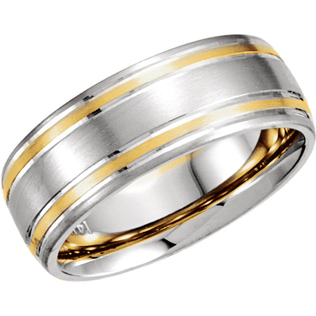 Band > 7mm > Trim > Yellow > White & 14kt > 14kt