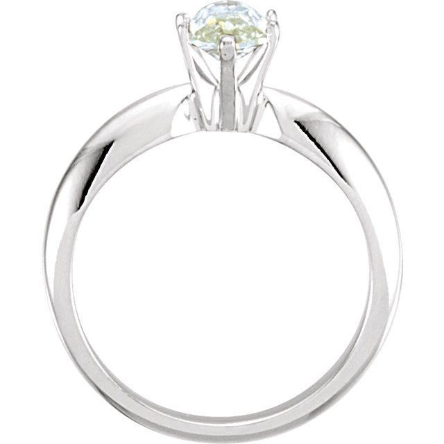 Solitaire > Moissanite > Created > Marquise > 10x5mm