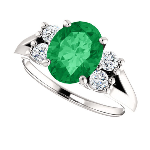 Ring > Diamond > CTW > 1/Emerald & 1 > Created > Chatham®