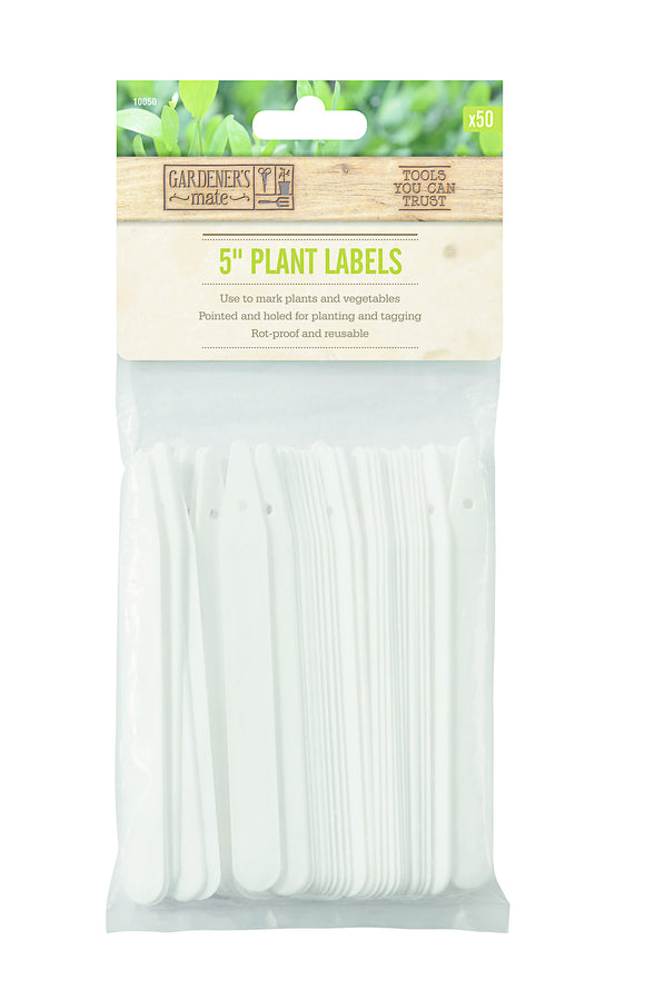 Plant Labels Pack Of 50 13Cm (5