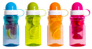 Infuser Tritan Drinks Bottle 450Ml Assorted
