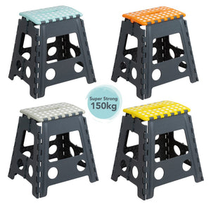 Tall Folding Step Stool Assorted Colours
