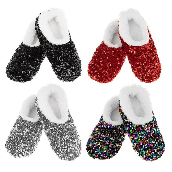 Snoozies! Bling Sequins Slippers Assorted