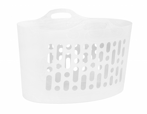 Flexi-Store 50L Laundry Basket White