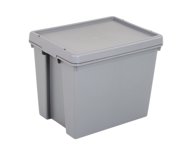 Wham Bam 24L H.Duty Box & Lid Grey Upcycled
