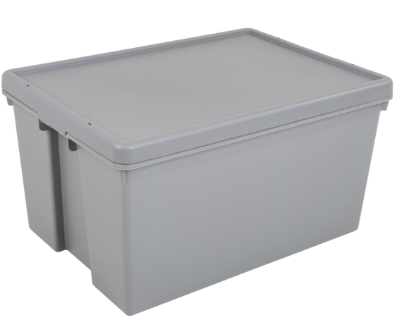 Wham Bam 62L H.Duty Box & Lid Grey Upcycled