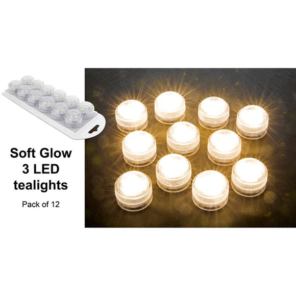 Soft Glow 3 LED Tealight