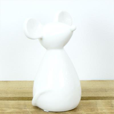 Ceramic Mouse White or Grey