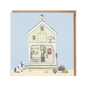 Beach Hut Card