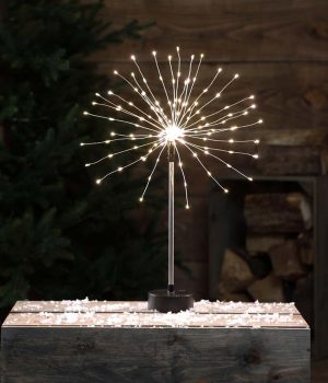 SOUND ACTIVATED FIREWORK TABLE LIGHT
