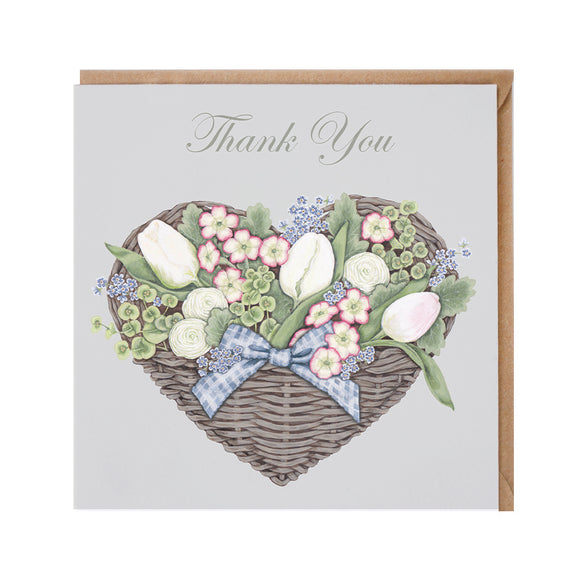 Thank You (Flower Basket) Card