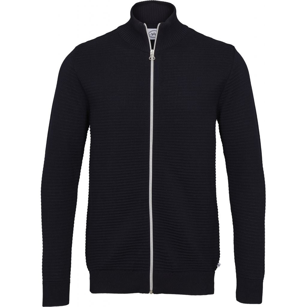 Bart Zip Knit - Navy