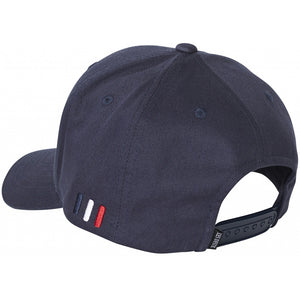 Suede Baseball Cap - Navy/White