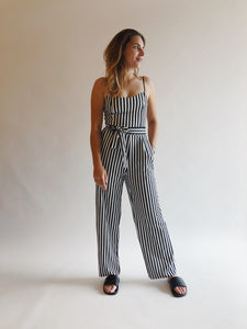 Tina S/l Bow Jumpsuit Black