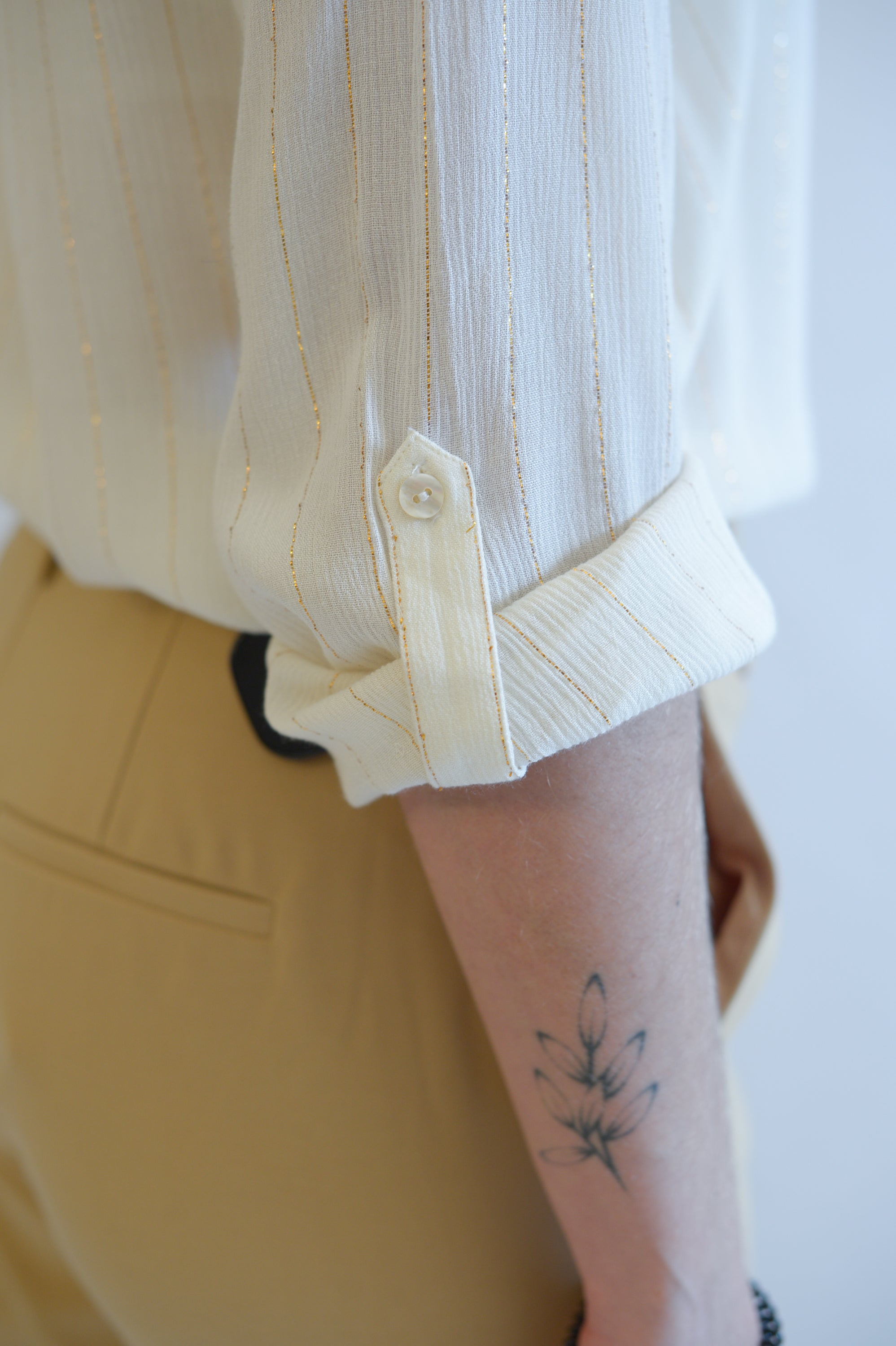 Viola l/s lurex shirt cloud