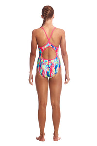 GIRLS SIZE 12 Diamond Back One Piece (Colours Available)