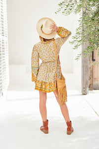Bisque Short Dress Yellow