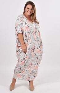 Maxi Miracle Dress in Pink Palm