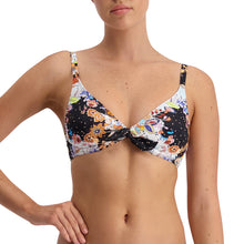 Load image into Gallery viewer, Mystical Garden Underwire Knot Tri Top