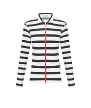 Load image into Gallery viewer, Ladies Black Stripe Long Sleeve Rashie